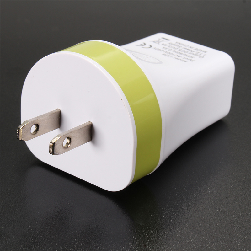 2A Max US Plug 3 Ports USB Home Travel Wall Charger Power Fast Charging Adapter