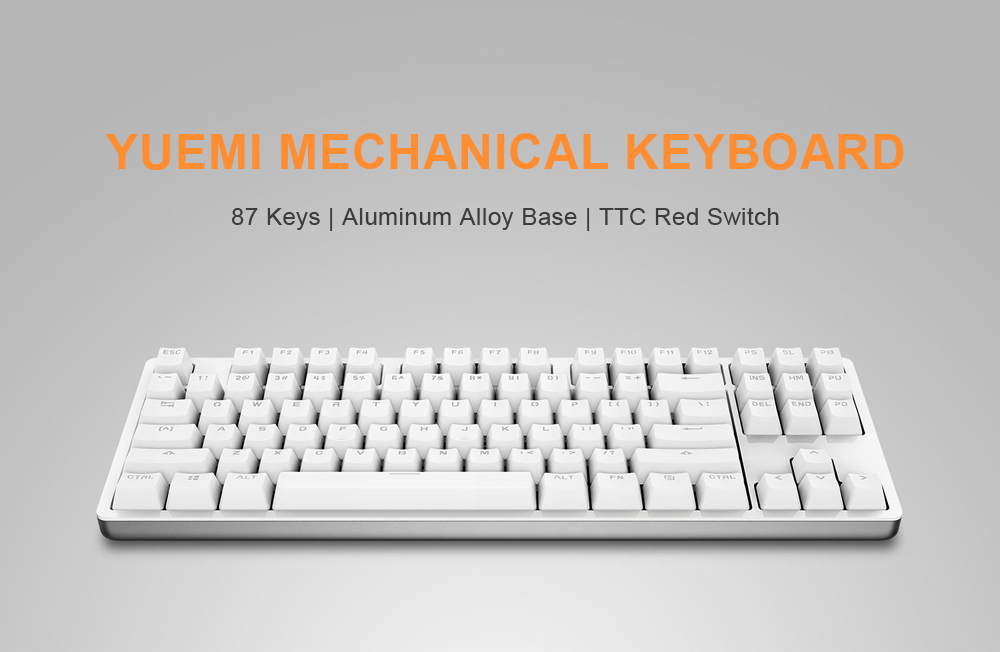 Xiaomi Yueme MK01 87 Keys TTC Red Switch White Backlit Mechanical Gaming Keyboard