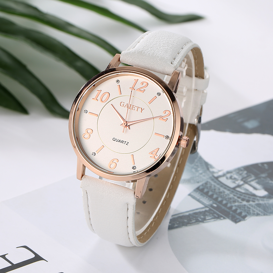 GAIETY G062 Elegant Style Gold Case Women Wrist Watch