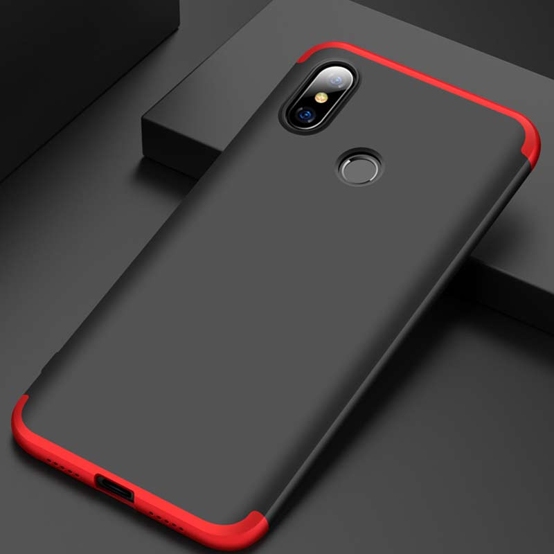 Bakeey™ 3 in 1 Double Dip 360° Hard PC Full Protective Case For Xiaomi Mi8 Mi 8 6.21 inch