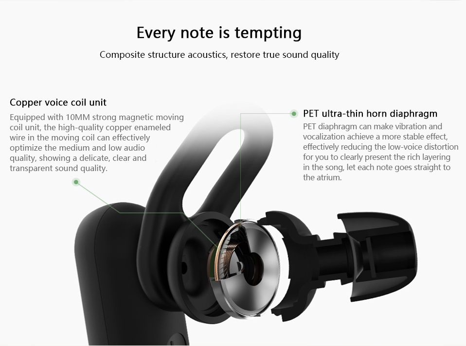 Xiaomi Youth Wireless bluetooth Earphone Noise Cancelling Waterproof Sports Headphone with MEMS Mic