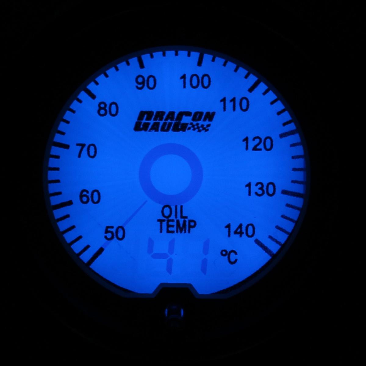 52mm Car Oil Temp Temperature Gauge Digital 7 color LED Display Car Meter