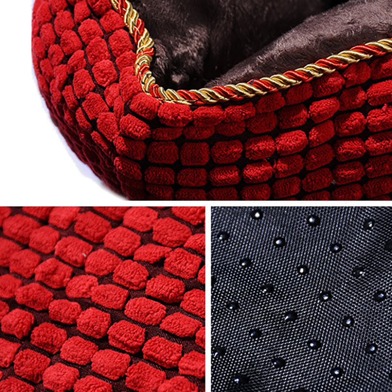 2 Colors Luxury Corduroy Pet Sofa Couch Bed Dog Cat Winter Kennel for Large Dogs Pet Bed