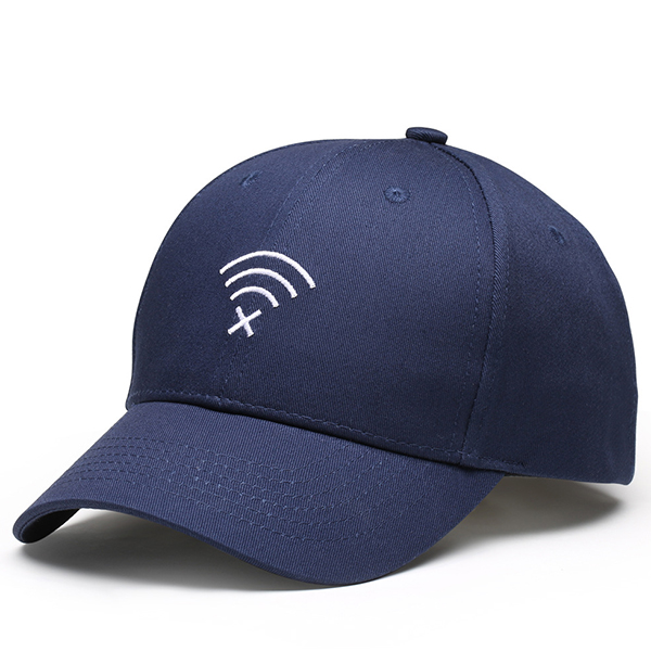 Canvas Embroidery WIFI Sun Peaked Cap Sport Baseball Cap