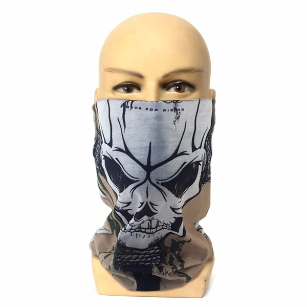 Unisex Outdooors Riding Skull Sports Scarf Dust Neck Face Mask Ski Sport Headbrand For Men Women