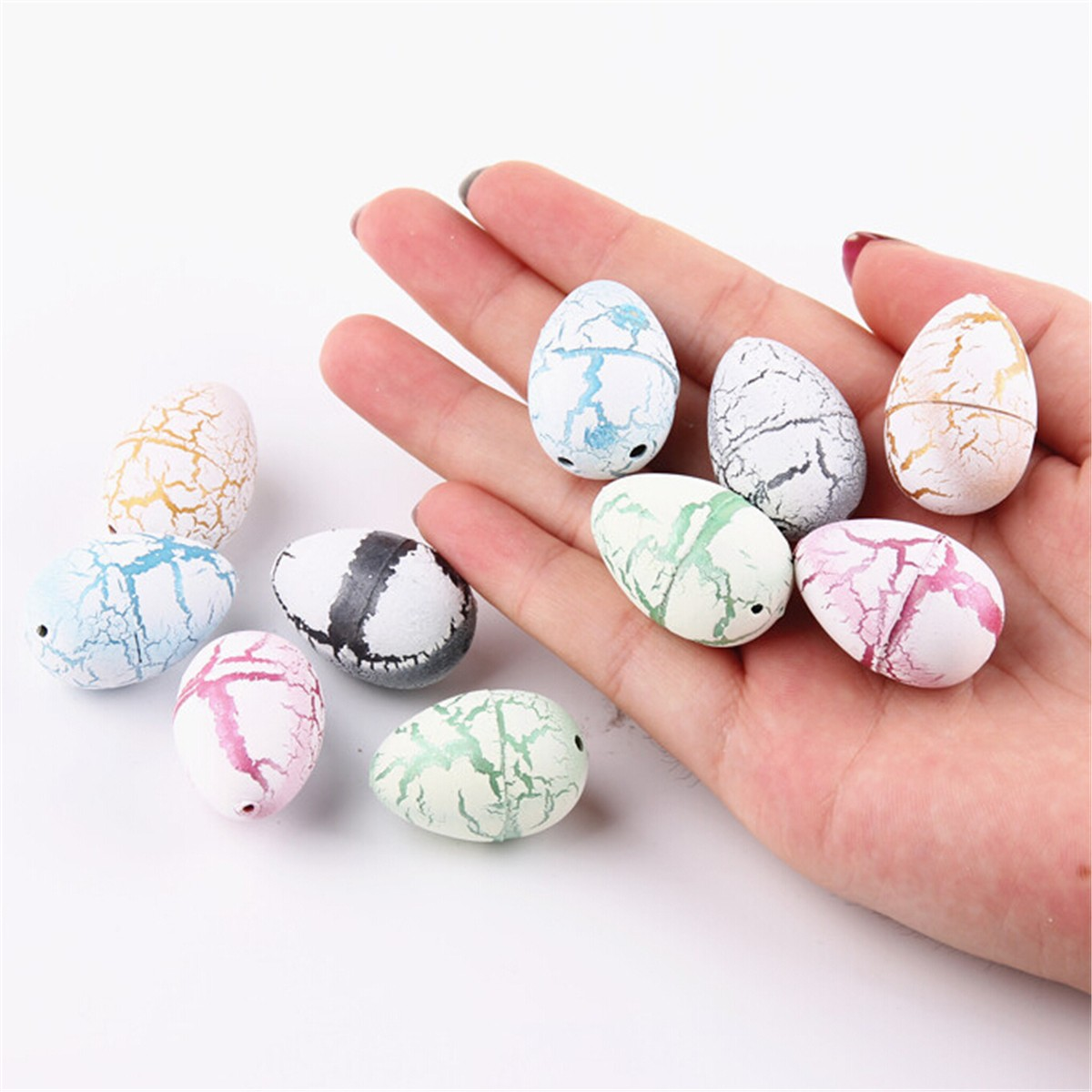 10PCS Hatching Growing Dinosaur Dino Eggs Add Water Magic Cute Children Toy Gift