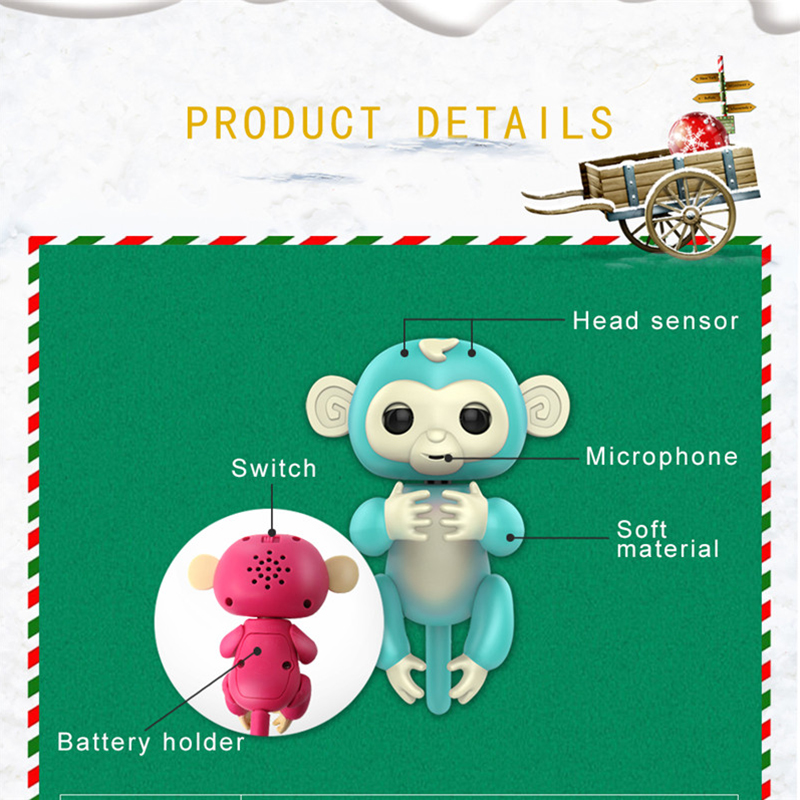 Finger Baby Interactive Pet Monkey Smart Colorful Induction Toys For Kids Children New Year Gift