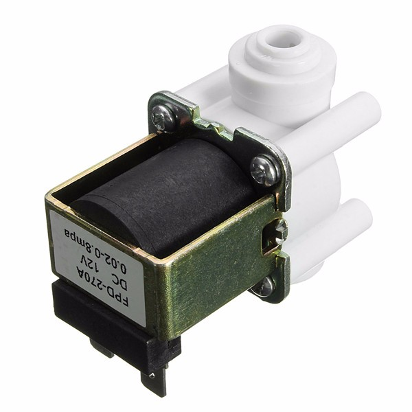 DC 12V 1/4 Inch Electric Solenoid Valve Quick Connect Water Solenoid Valve