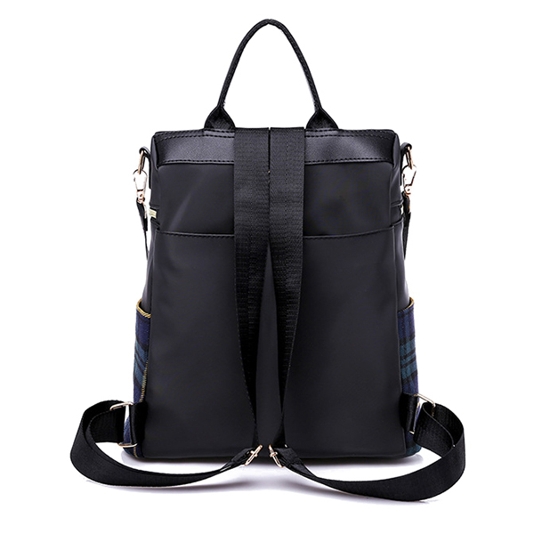 Women Nylon Backpack Large Capacity Contrast Color Fashion Leisure Tablet Bag