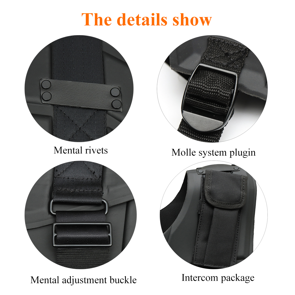 Black Outdoor Tactical Vest Hunting Combat Body Protector Training Vest