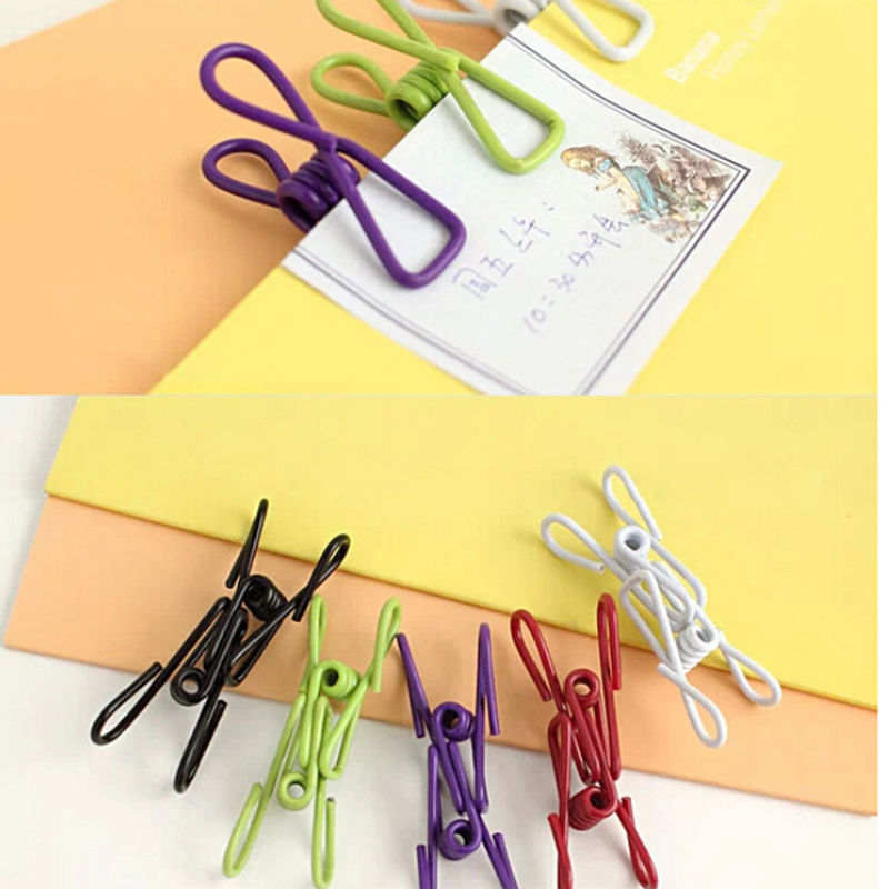 Honana HL-020 10Pcs/Set Multi-Purpose Metal Stainless Steel Clothes Clips Clothes Drying Accessories