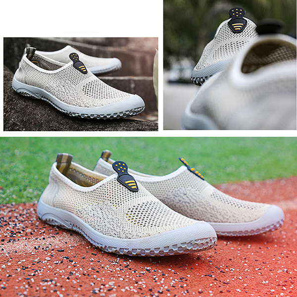 Summer Men Breathable Outdoor Casual Sport Soft Flat Fashion Mesh Athletic Shoes