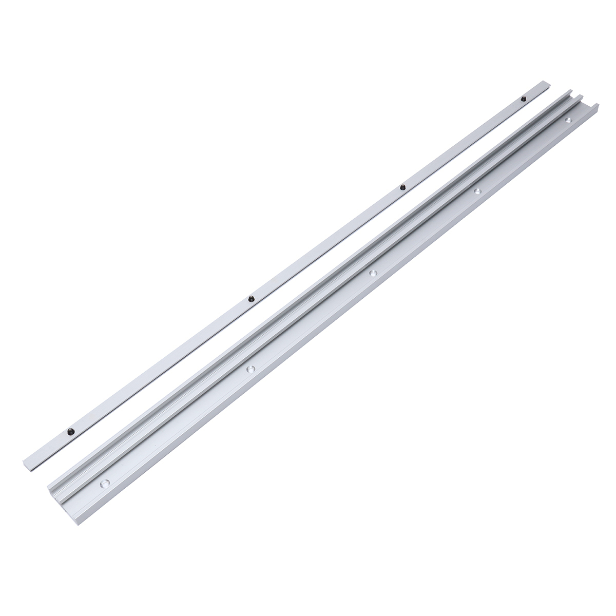 400-1220mm Aluminum Alloy T-Track T-slot Miter Track with Slide Metric Ruler Scale for Table Saw Router Table Woodworking Tool