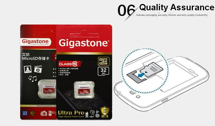 Gigastone 8GB Class 10 Storage Memory Card TF Card for Mobile Phone