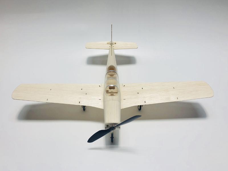 MinimumRC T34 460mm Wingspan Balsa Wood Laser Cut Mini RC Airplane