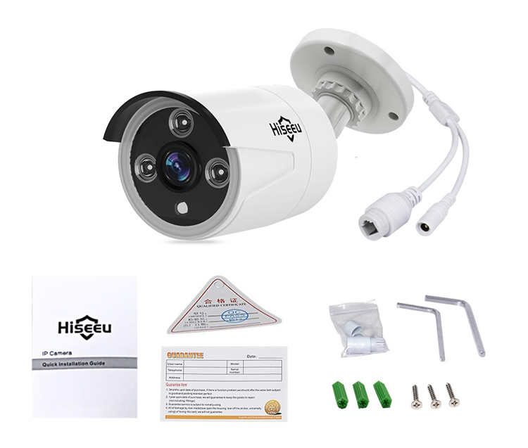 Hiseeu HB612 1080P 2.0MP POE Mini Bullet IP Camera ONVIF P2P IP66 Waterproof Outdoor IR CUT Night Vision Cam