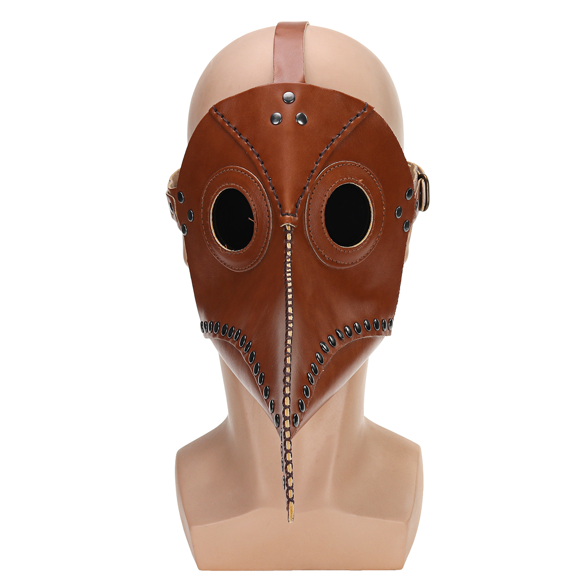 Steampunk Bird Beak Mask Retro Rivet Cosplay Leather Halloween