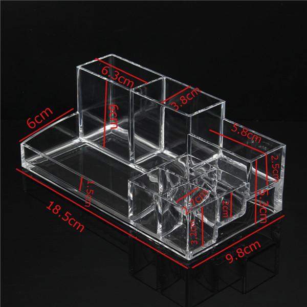 Acrylic Makeup Organizer Clear Staged Cosmetic Storage Lipstick Brush Holder Case
