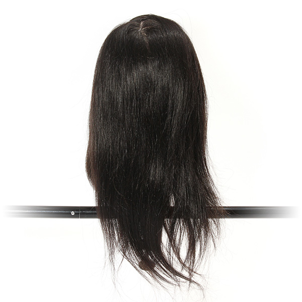 100% Real Long Hair Practice Models Hairdressing Training Head With Clamp18 inch