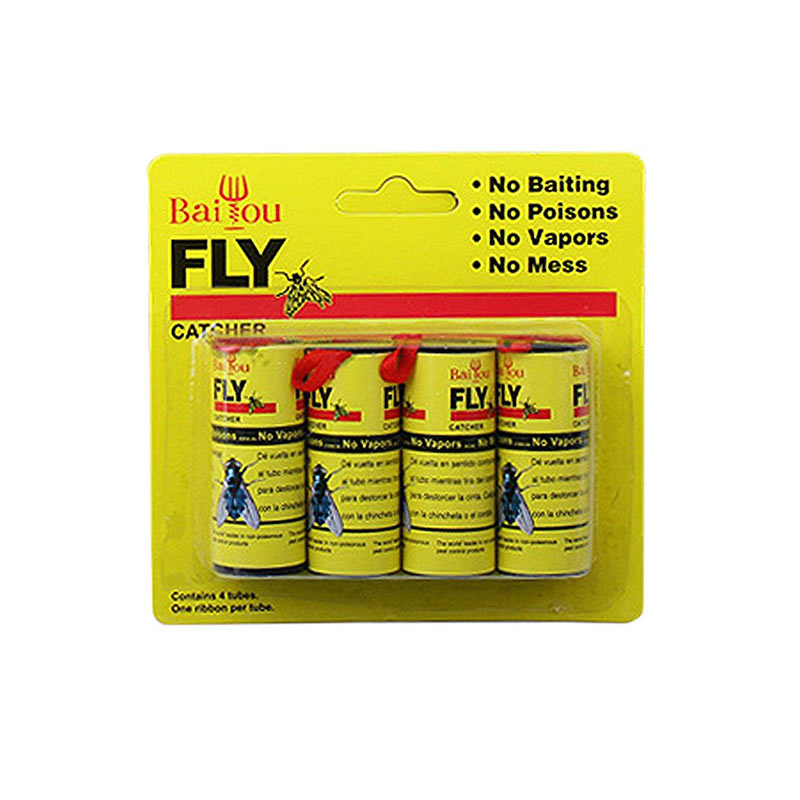 Honana HN-037 4pcs Fly Paper Strips Fly Catcher Trap Fly Ribbon