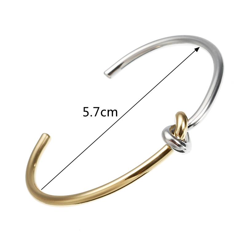 JASSY® Sweet Infinity Knot Bangle Stretch Bracelet for Women