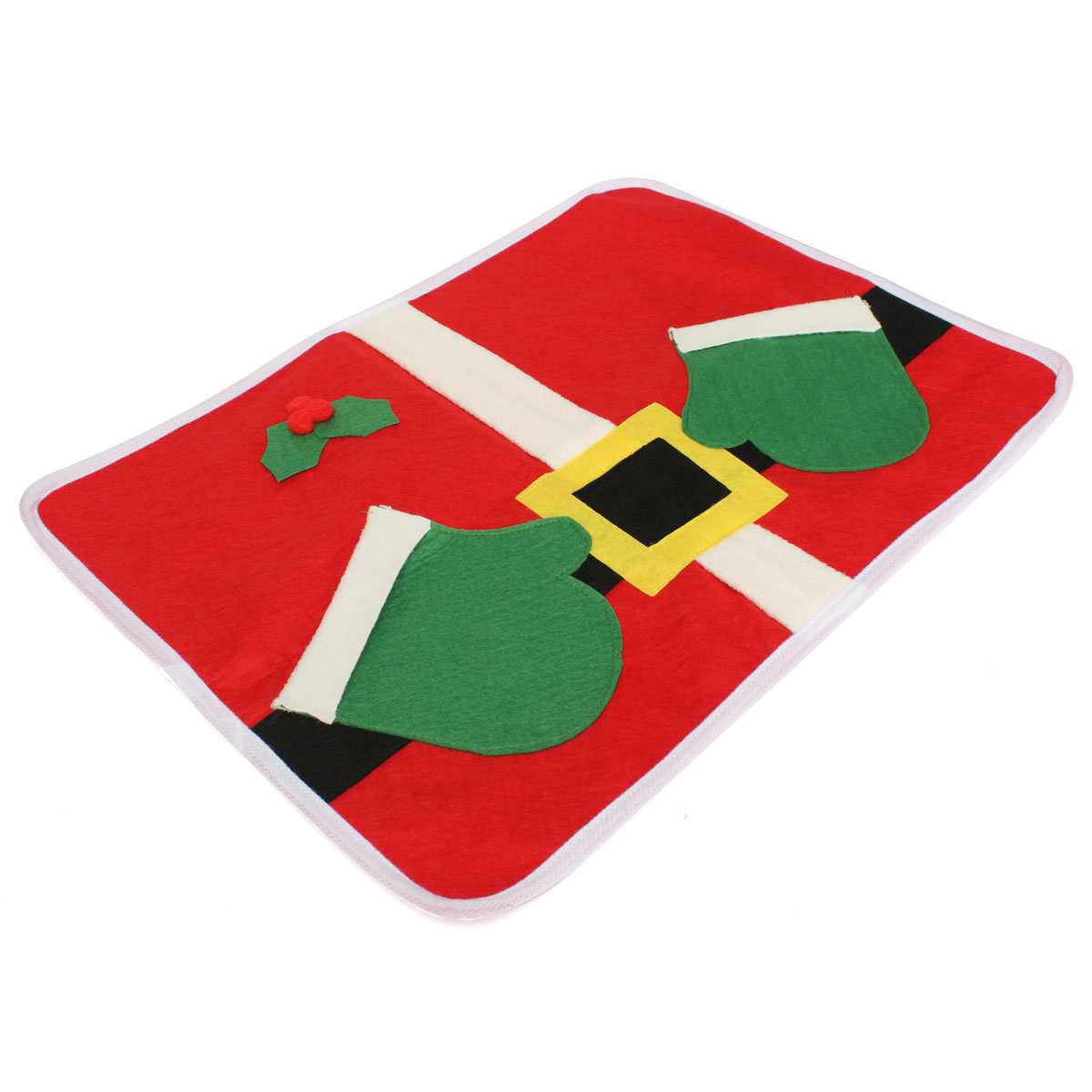 Chritmas Xmas Santa Clua Table Placemat Cover Tableware Mat