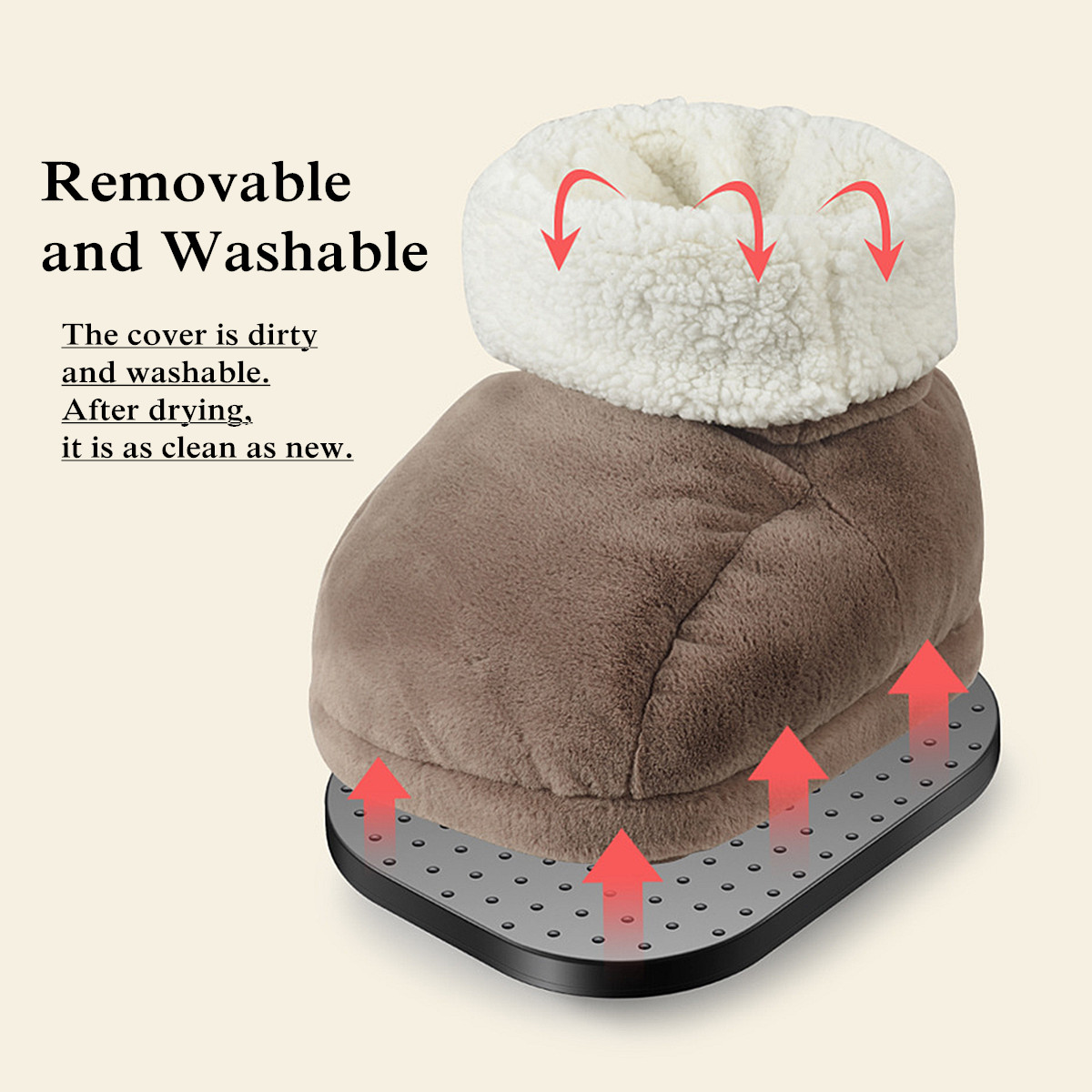 Electric Foot Heater Warmer Heating Home Shoes Temperature Adjustable