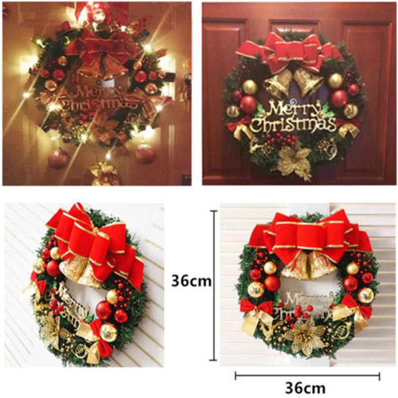 KerstOrnamentKroonDeurOrnamentGarland Decoratie Kerst Bell