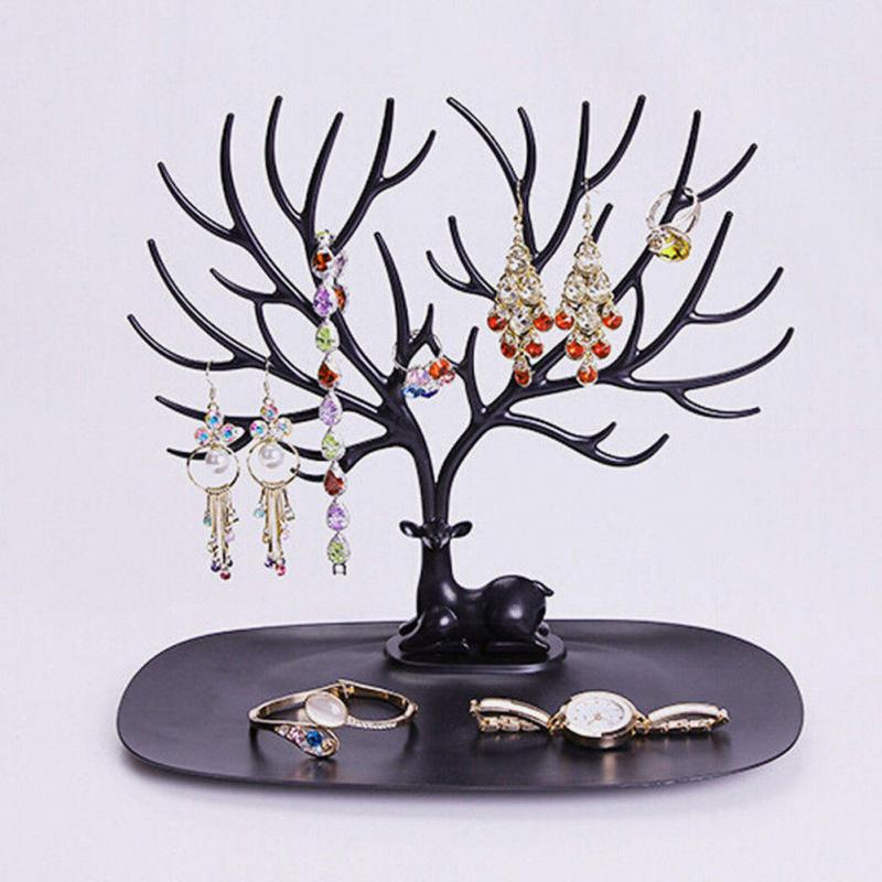 Jwelry Organizer Necklace Earring Deer Stand Display Holder Show Rack Display Necklace Organizer