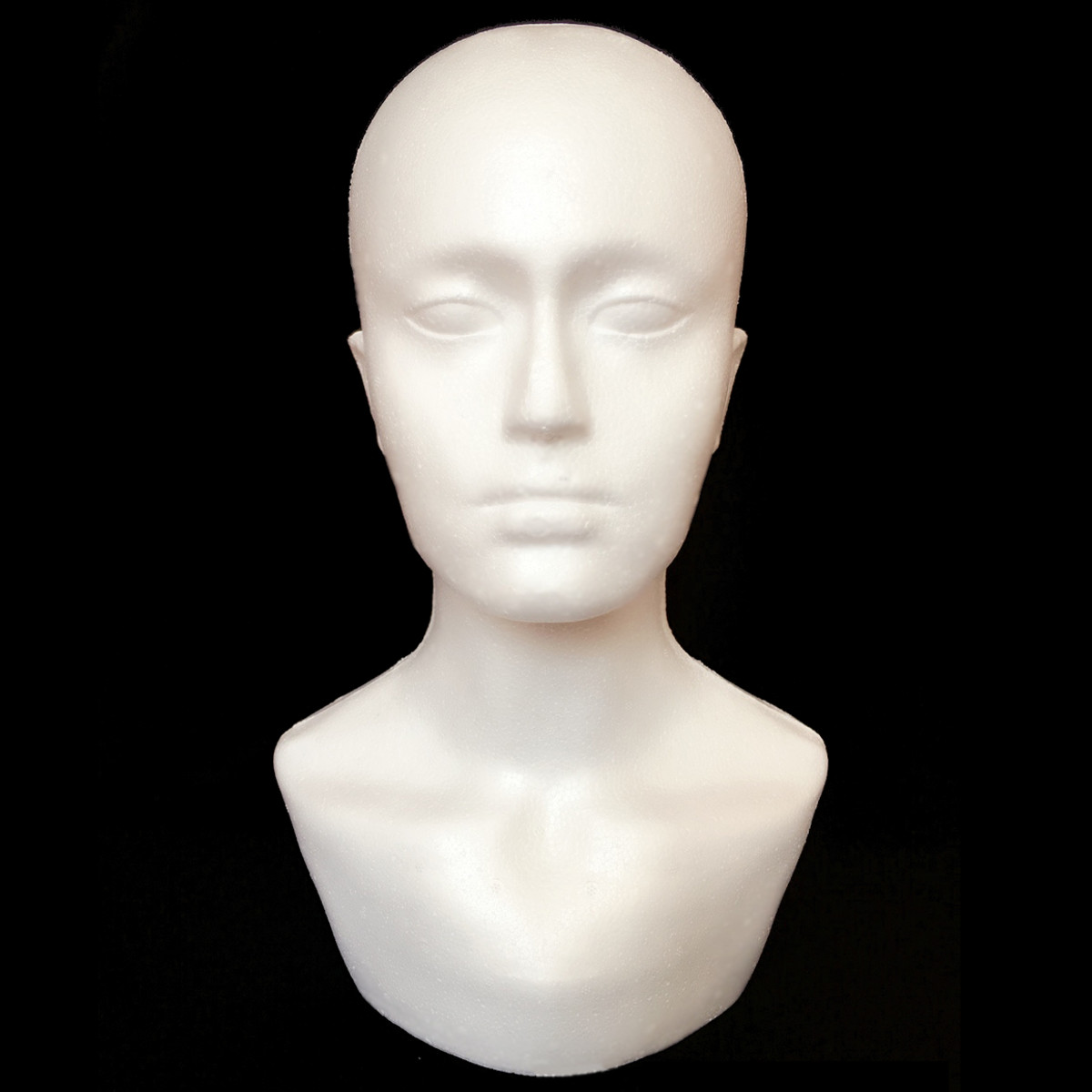 Male Polystyrene Foam Mannequin Stand Model Display Hea