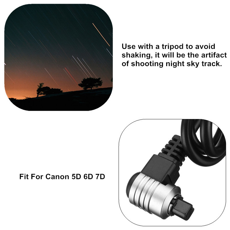 SHOOT TC-80N3 Shutter Release Long Exposure Self Timer Remote Cable for Canon 5D 6D 7D