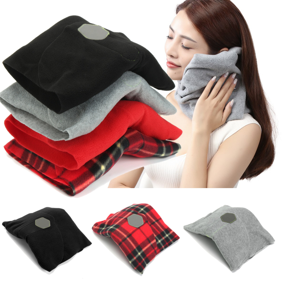 Outdoor Travel Super Soft Neck Support Portable Aircraft Car Train Pillow Office Neck Rest