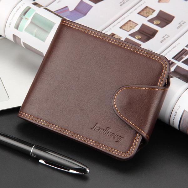 Men Wallet, Business Casual Zipper, Short Card Holder Wallet
