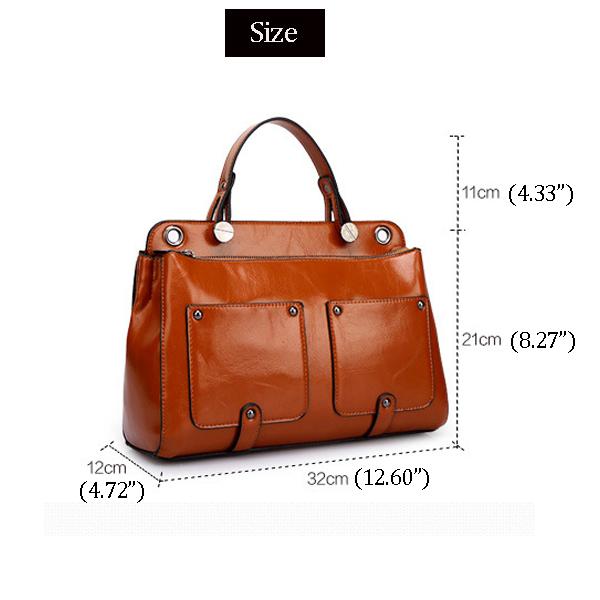 Women Retro Handbags Motorcycle Leather Bags Messenger Bags