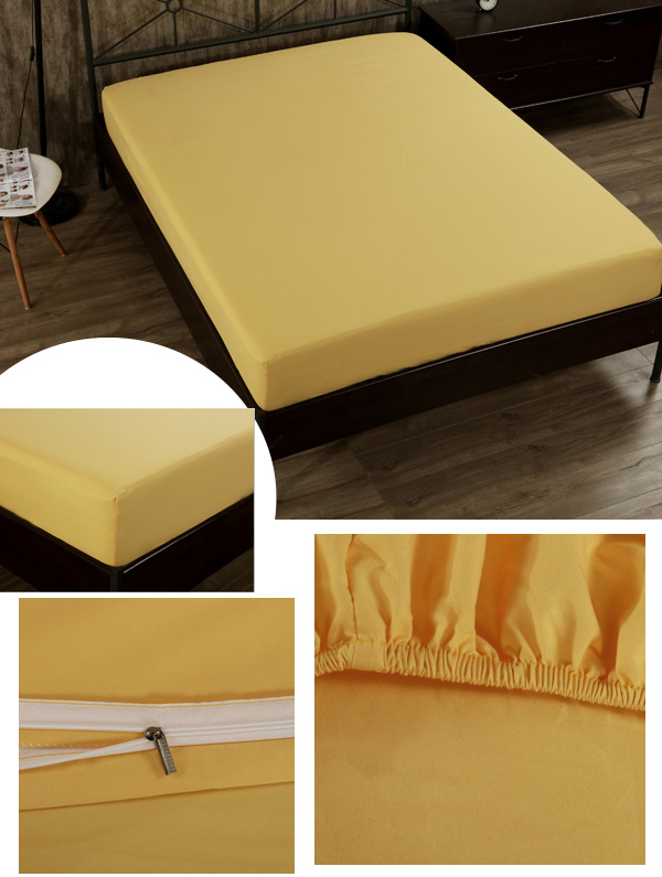 4PCS Suit Polyester Fiber Plain Pure Colour Reactive Printing Bed Cover King Size Bedding Sets