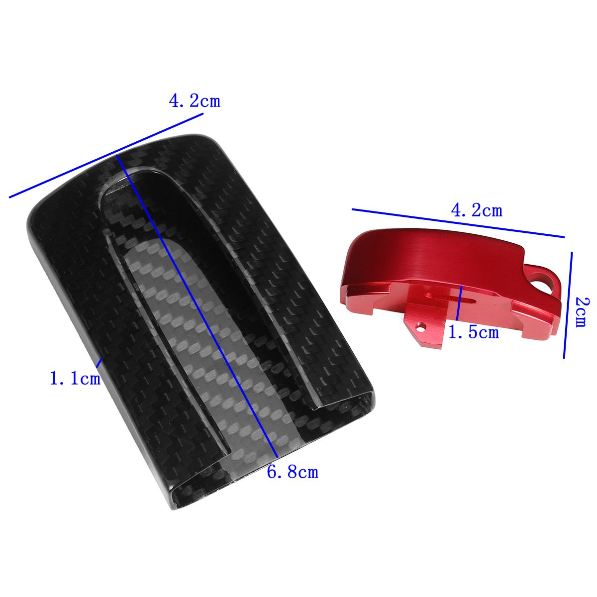 Carbon Fiber Remote Key Fob Case Cover With Aluminum Base For Nissan GTR Style