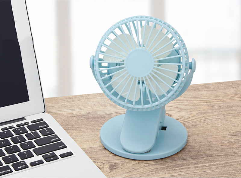 360° Rotation Mini Fan Battery Operated/USB Rechargeable Clip on Fan for Baby Stroller/Gym/Office/Study