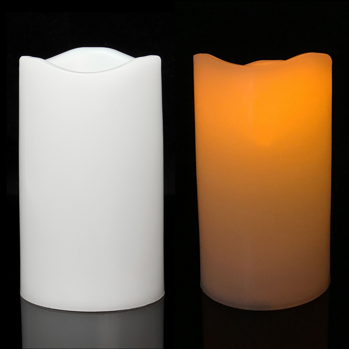7.5x12.5cm Battery Operated Flameless LED Candle Night Light Room Decoration Lamp