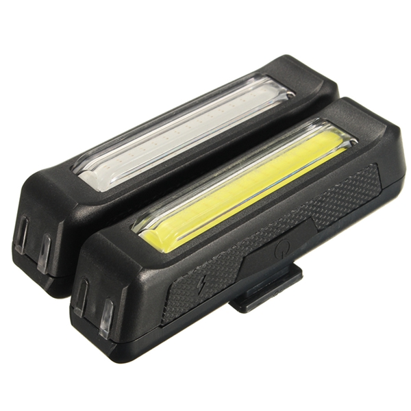 Waterproof USB Rechargeable Bicycle Bike Front Rear 3 Modes Tail LED Light