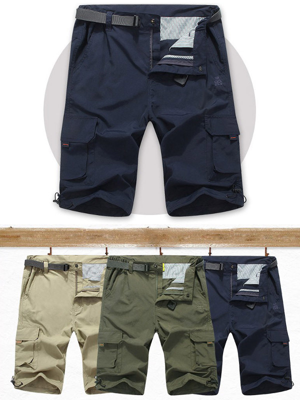 Large Size Outdooors Quick Drying Shorts Pants Summer Men's Casual Multi Pockets Shorts