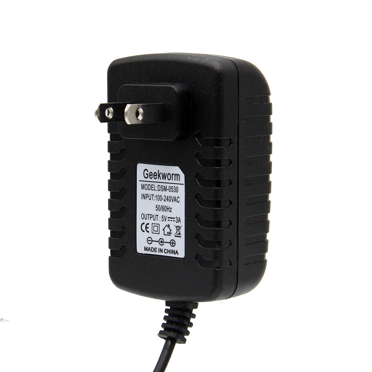 Geekworm US Standard DC 5V 3.0A Power Supply Adapter with Switch For Raspberry Pi