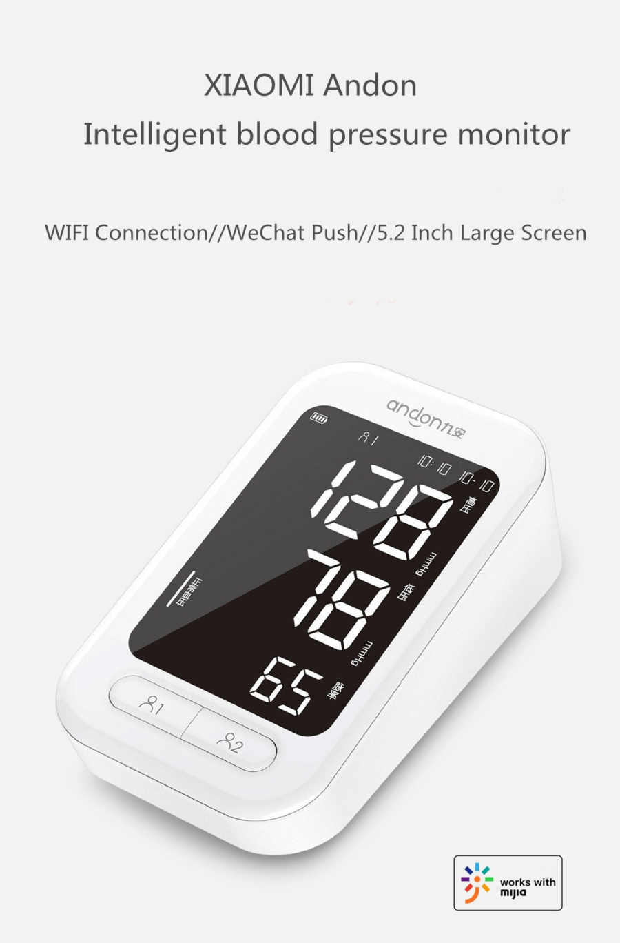 XIAOMI WIFI Electronic Blood Pressure Monitor Voice Broadcas