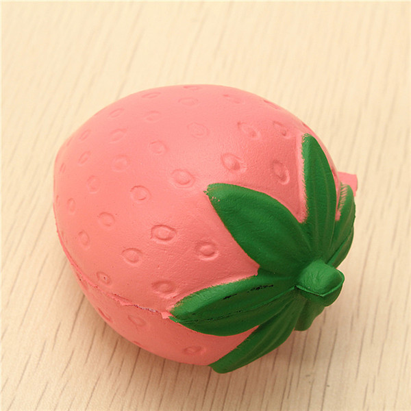 4PCS Squishy Panda Bun Strawberry Slow Rising Cute Collection Gift Phone Bag Strap Decor Toy