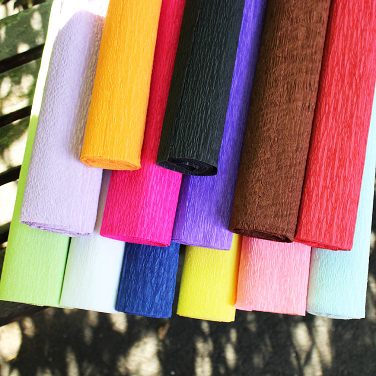 Colorful Crepe Paper Rolls Streamer Wedding Party Supplies Handmade Decoration Paper Art