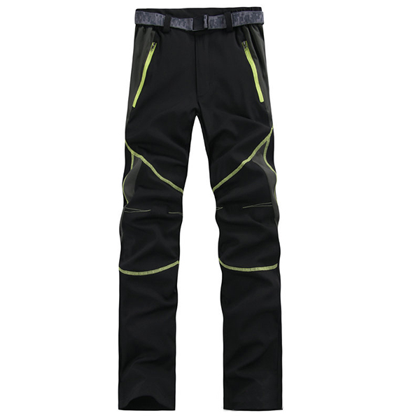 Mens Spring Outdooors Quick Drying Stitching SporT-pants Waterproof Breathable Climbing Trousers