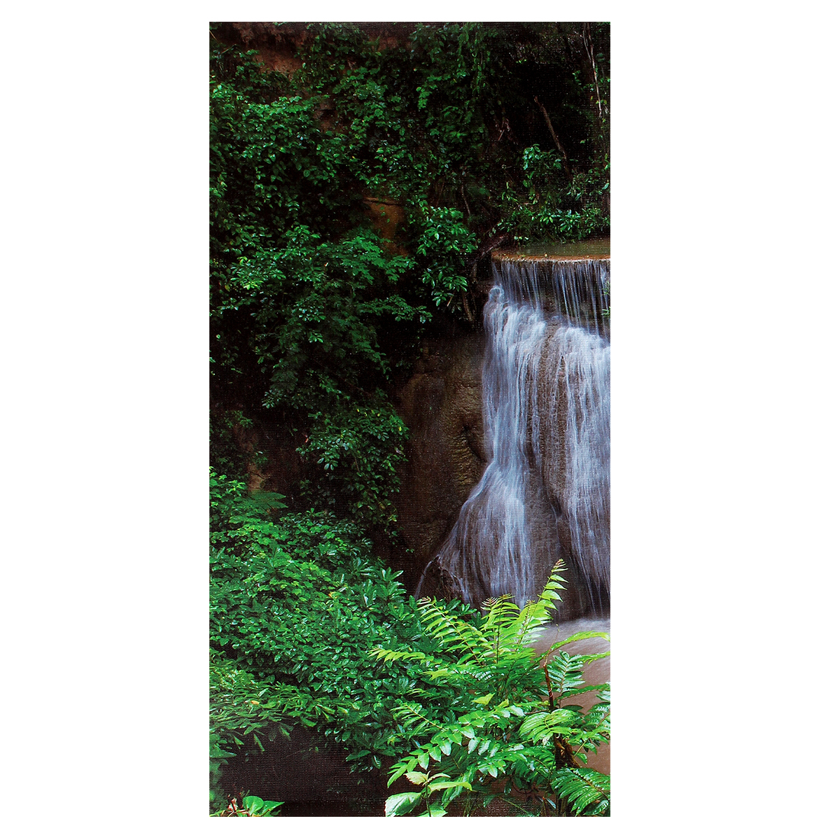 4 Cascade Waterfall Woods Scene Canvas Painting Decorative Wall Picture Home Decoration