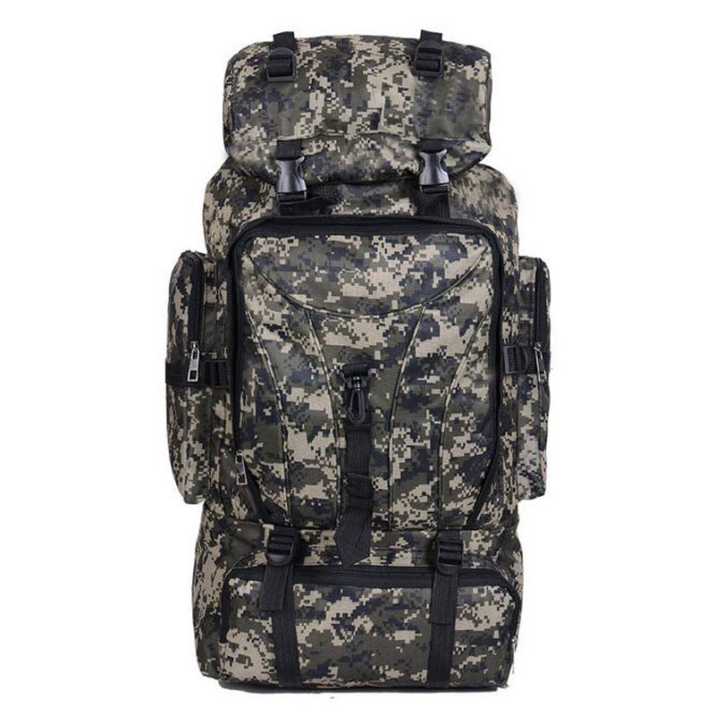 Outdoor Nylon Backpack Rucksack Tactical Climbling Hiking Trekking Camouflage Bag Pack