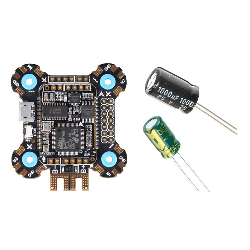 JHEMCU F722 Betaflight Flight Controller 2-6S OSD 5V/2A BEC Current with 25V/1000uF Capacitor 30x30mm 12.8g - Photo: 4