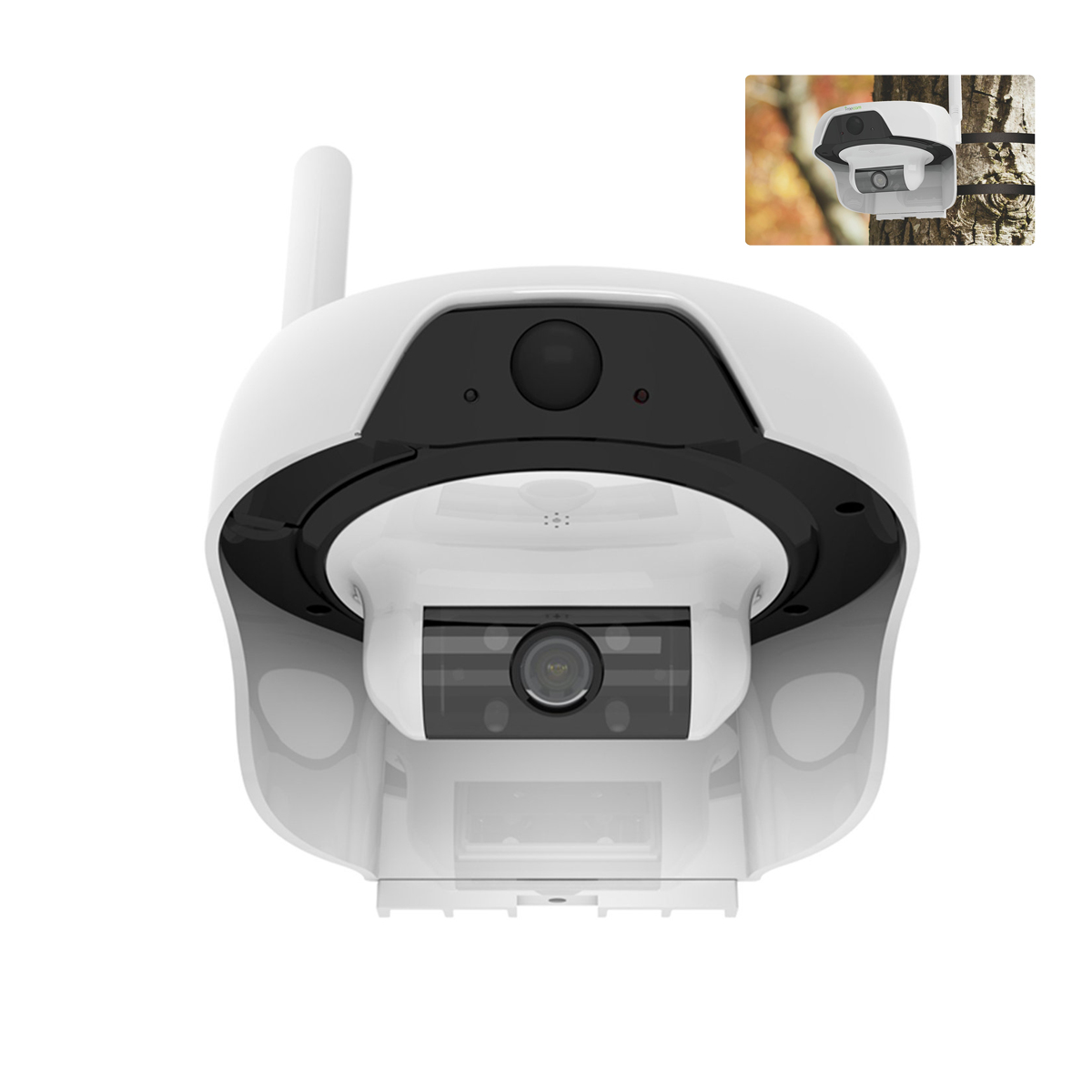 720P Solar Mobile WiFi PIR Camera IP55 Waterproof Motion Detect For Outdoor Motion Detect Remotely Wake Up by Free APP