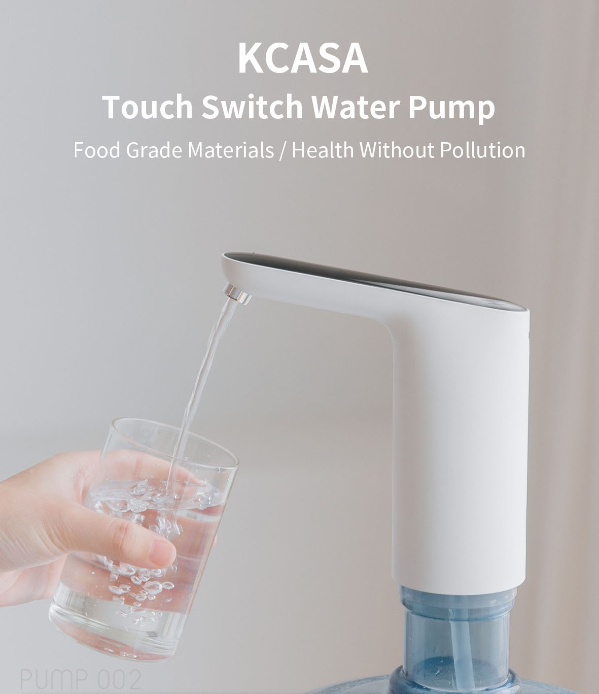 KCASA KC-002 USB Mini Touch Switch Water Pump Wireless Rechargeable Electric Dispenser Water Pump With USB Cable